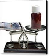 Cost Of Medicine Canvas Print