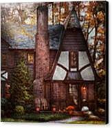 Cottage - Westfield Nj - A Place To Retire Canvas Print by Mike Savad