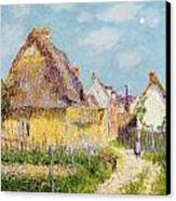 Cottage At Le Vaudreuil Canvas Print by Gustave Loiseau