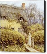 Cottage Near Freshwater  Canvas Print by Helen Allingham