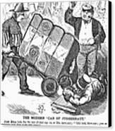 Cotton Loan Cartoon, 1865 Canvas Print