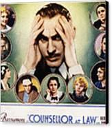 Counsellor At Law, Center John Canvas Print
