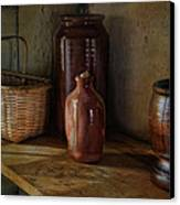 Country Cupboard Canvas Print by Robin-Lee Vieira