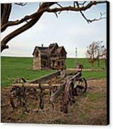 Country Home And Wagon Canvas Print by Athena Mckinzie