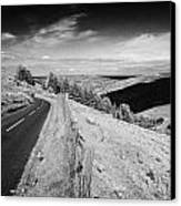Country Mountain Road Through Glenaan Scenic Route Glenaan County Antrim Northern Ireland  Canvas Print by Joe Fox