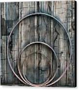 Country Rings Canvas Print by Susan Candelario