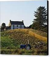County Cork, Ireland Farmer On Tractor Canvas Print by Ken Welsh
