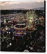 County Fair, Yakima Valley, Rides Canvas Print by Sisse Brimberg