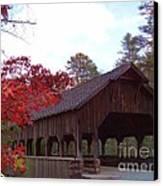 Covered Bridge Canvas Print by Crystal Joy Photography