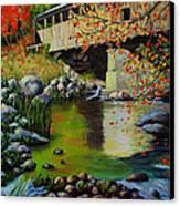 Covered Bridge Canvas Print by Suni Roveto
