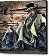 Cowboy Stare-down Canvas Print