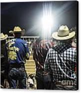 Cowboys At Rodeo Canvas Print