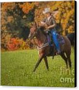 Cowgirl Canvas Print by Susan Candelario