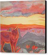Coyote Cliff Canvas Print by Vikki Wicks