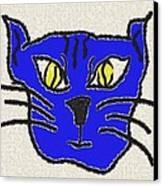 Crazy Cat Canvas Print by Leeann Stumpf
