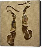 Create In Silver Earrings Canvas Print by Jenna Green