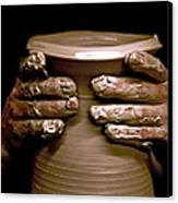 Creation At The Potter's Wheel Canvas Print by Rob Travis