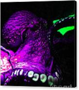 Creatures Of The Deep - The Octopus - V6 - Violet Canvas Print