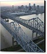 Crescent City Connection Bridge Canvas Print by Tyrone Turner