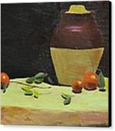 Crock With Fruit Canvas Print