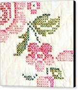 Cross Stitch Flower 1 Canvas Print by Marilyn Hunt