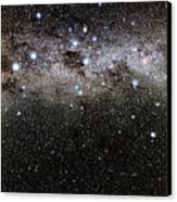Crux And The Southern Celestial Pole Canvas Print