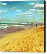 Cuba Beach Canvas Print by Odon Czintos