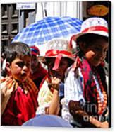 Cuenca Kids 187 Canvas Print by Al Bourassa