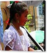 Cuenca Kids 94 Canvas Print by Al Bourassa
