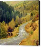 Curve Mountain Road With Autumn Trees Canvas Print by Utah-based Photographer Ryan Houston