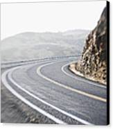 Curving Two Lane Road Canvas Print by Jetta Productions, Inc