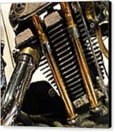 Custom Motorcycle Chopper . 7d13318 Canvas Print by Wingsdomain Art and Photography