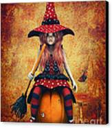 Cutest Little Witch Canvas Print