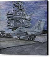 Cvn 65 Uss Enterprise Canvas Print by Sarah Howland-Ludwig