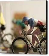 Cyclists. Figurines. Symbolic Image Tour De France Canvas Print