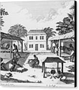 Daily Life For Enslaved Africans Canvas Print by Everett