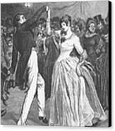 Dance, 19th Century Canvas Print by Granger