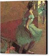 Dancers Climbing A Stair Canvas Print by Edgar Degas