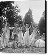 Dancers Of The National American Ballet Canvas Print by Everett