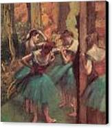 Dancers Pink And Green Canvas Print by Edgar Degas