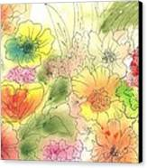 Dancing Flowers Canvas Print by Christine Crawford
