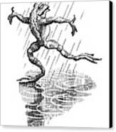 Dancing In The Rain, Conceptual Artwork Canvas Print by Bill Sanderson