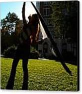 Dancing With The Sunset - Philadelphia - Pensilvania - Sunset Canvas Print