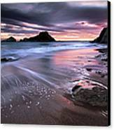 Dark Sunrise On Hidden Bay Canvas Print