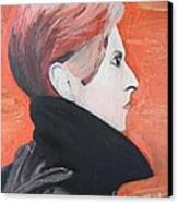 David Bowie Canvas Print by Jeannie Atwater Jordan Allen