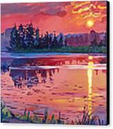 Daybreak Reflection Canvas Print