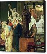Dealer In Statues  Canvas Print