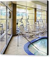 Deck Chairs Around Hotel Pool Canvas Print