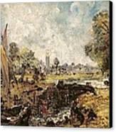 Dedham Lock Canvas Print by John Constable