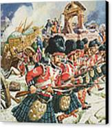 Defence Of Corunna Canvas Print